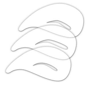 wenkbrauw stencil airbrush